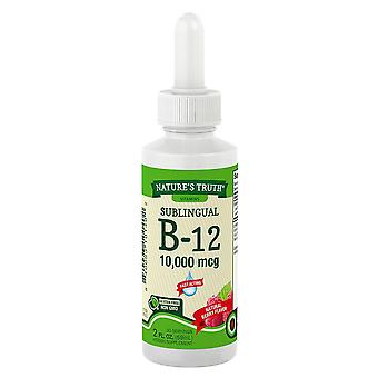 Nature's truth sublingual b-12, 10000 mcg, liquid, natural berry flavor, 2 oz