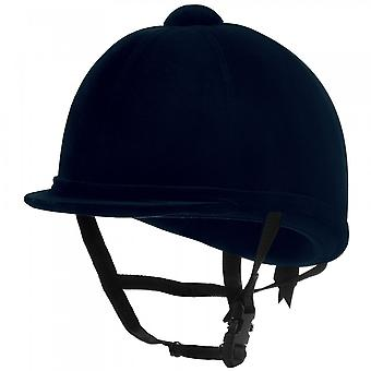 Charles Owen Young Riders Riding Hat - Navy Blue