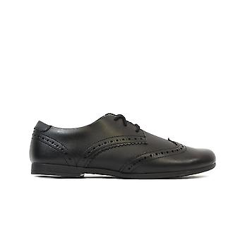 Clarks Scala Lace Kids Black Leather Girls Lace Up Brogue School Shoes