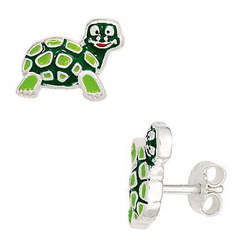 أطفال ترصيع السلاحف الخضراء 925 الاسترليني الأقراط الفضية أقراط الأطفال