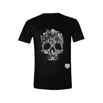 The Walking Dead - Negan Skull Montage Men T-Shirt - Black