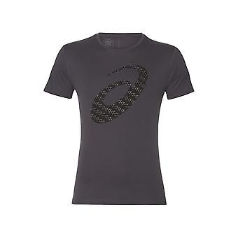 Asics Silber Grafik SS Top 2011A328020 laufende Sommer Herren T-shirt