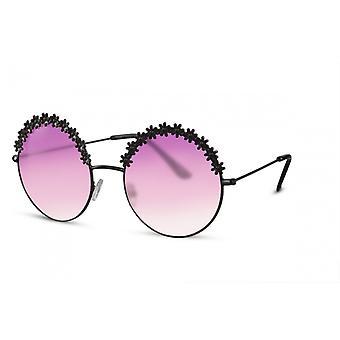 Sonnenbrillen  Damen rund Kat.2 schwarz/lila (CWI2426)