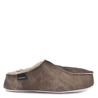Shepherd of Sweden Mens' Birro Antique Stone Suede Slipper