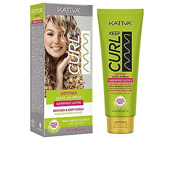 Kativa Keep Curl Definer Leave-in Cream 200 Ml för kvinnor