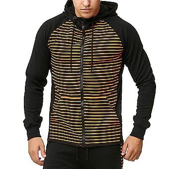 Allthemen Men's Fashion Striped Zip Hoodies