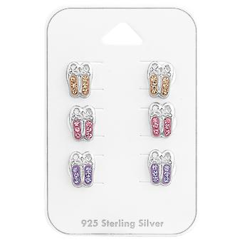 Ballerina Shoes - 925 Sterling Silver Sets - W38080x