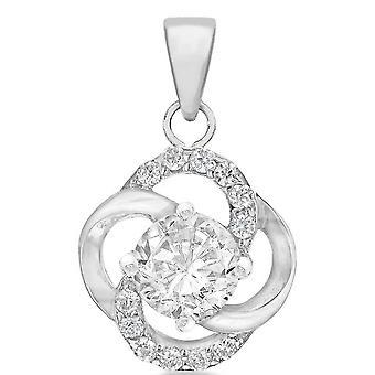 KJ Beckett Knut Cubic Zirconia Pendant - Silver