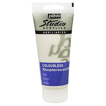 Pebeo Studio Acrylic 100ml Gel (Phosphorescent Colourless)