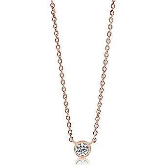 Sif Jakobs Necklace Sardinia Uno rosegold plated SJ-C1016-CZ-RG