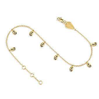 Anklet Sea Shell Full 18K Gold - Yellow Gold