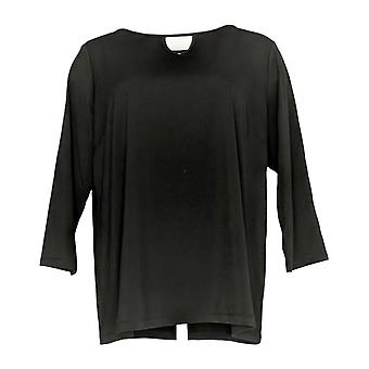 Joan Rivers Classics Collection Women's Top Jersey Knit Tunic Black A302756