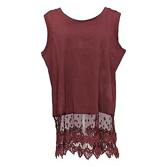 Kathleen Kirkwood Women's Top Layering Tank w/ Lace Purple A343309 #1