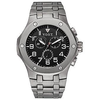 V.O.S.T. Germany V100.018 Titanium Chrono men's watch 44mm