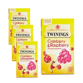 Twinings 4 x 20 Tea Bags Cranberry & Raspberry