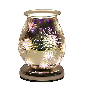 Aroma Oval 3D Effect Elektryczny wosk Melt Tart Palnik Cieplej Firework