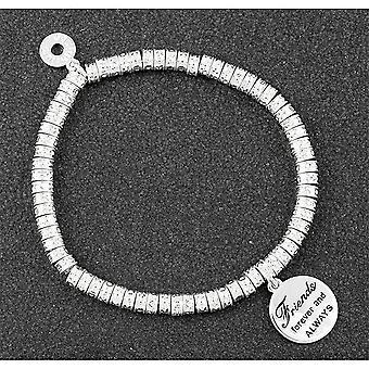 Equilibrium Rings Sentiment Silver Plated Bracelet Friends