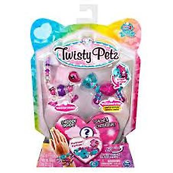 Twisty Petz Série 4 - 3 Pack - Gigglez Gecko & Sparkledrop Otter