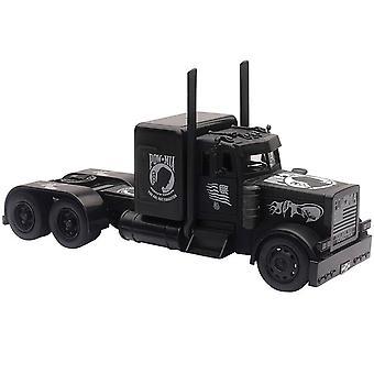 1/32 Peterbilt preto camião