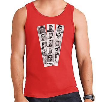 Thunderbirds Black And White Character Passport Design Men's Vest