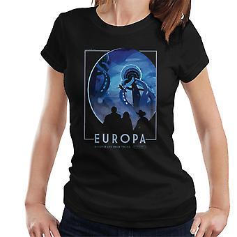 NASA Europa Interplanetary Travel Poster Women's T-Shirt