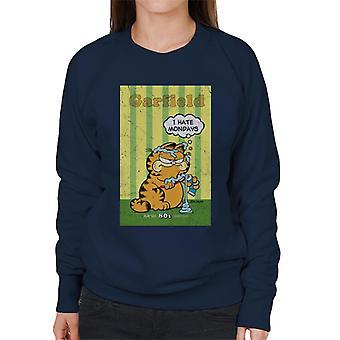 Garfield Grumpy jag hatar måndagar tandkräm överallt kvinnor ' s tröja