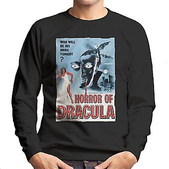 Hammer Horror Films Dracula Classic Film Poster Men's Sweatshirt