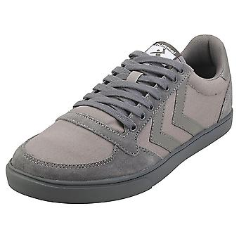 hummel Slimmer Stadil Tonal Low Mens Casual Trainers in Rock