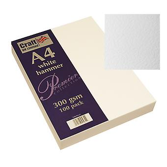 Craft UK Premium Collection A4 White Hammered Paper Pack