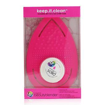 Keep it clean 1x cleansing mitt, 1x mini blendercleanser solid 252037 2pcs