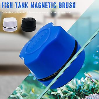 Acquario Fish Tank Magnetic Clean Brush Vetro Floating Algae Scraper Curve Curve Glass Cleaner Scrubber Tool Cleaning Magnet
