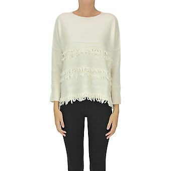 Archivio B Ezgl385012 Women's White Wool Sweater