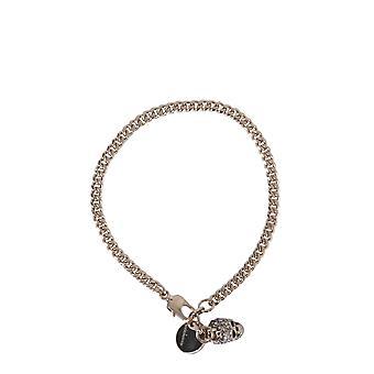 Alexander Mcqueen 582695j160k2076 Women's Gold Brass Necklace