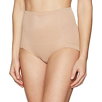 Marque - Arabella Women's Lissage Mesh Shapewear Brief, Nude, X-Large