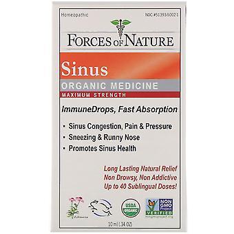 Forces of Nature, Sinus, Organic Medicine, ImmuneDrops, Maximum Strength, 0.34 o