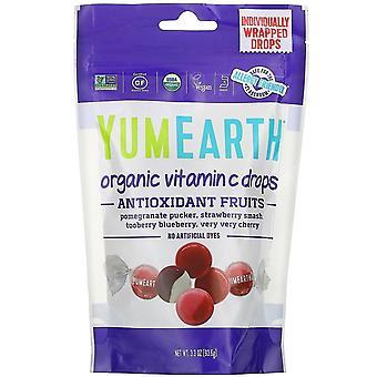 YumEarth, Organic Vitamin C Drops, Anti-Oxifruits, 3.3 oz (93.6 g)