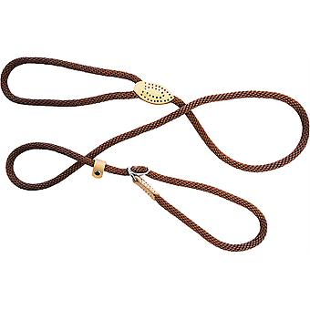 Dog & Co Supersoft Rope Slip Lood - Bruin - 8mm x 60 inch