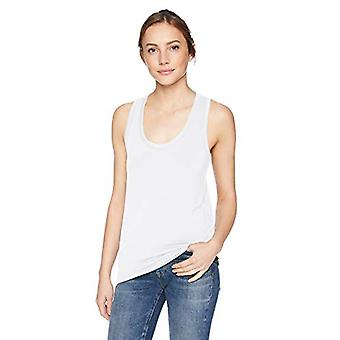 Brand - Daily Ritual Women's Jersey Racerback Tank Top, White, X-Small