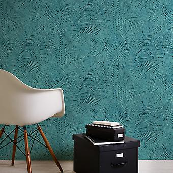 Sumatra Palm Leaf Tapeter Blå SOM Creation AS373716