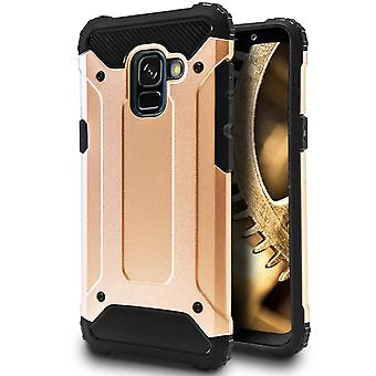 Mobile Protection for Samsung Galaxy A5 (2018) | Hard Hybrid Shell in Gold