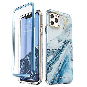 COSMO 360° Backcover Hoesje Met Screen Protector iPhone 11 Pro Max - Marble Wit