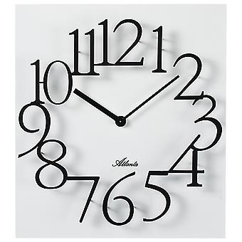Atlanta 4511/0 Wall clock Quartz analog white square square