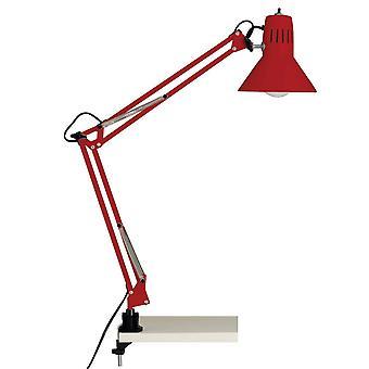 Brilliant Lampada Hobby Desk Clamp Lampada Rossa 1x A60, E27, 40W, adatto per lampade normali (non incluse) Scala