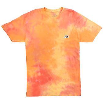Lost inertia tee burnt orange wash