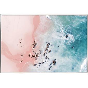 JUNIQE Print - Sea Bliss - Rannat Juliste Pink & Turkoosi