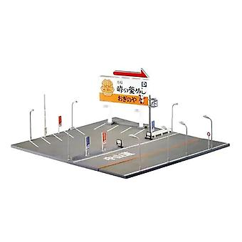 Miniature Model Initial D Street Style Car Parking Scene
