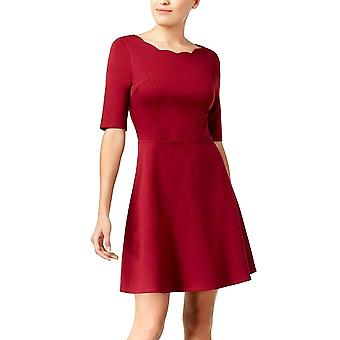 Monteau Los Angeles | Scalloped-Neck Fit & Flare Dress