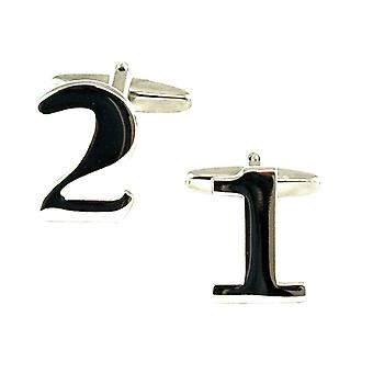 Ties Planet numero 21, 21st Syntymäpäivä lahja kalvosinnapeja