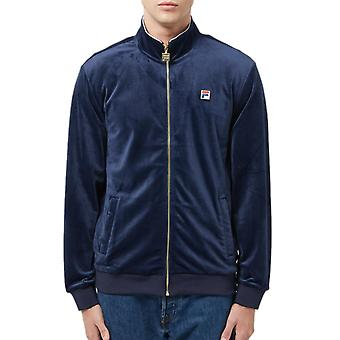 Fila Irving Velour Track Top Navy 90