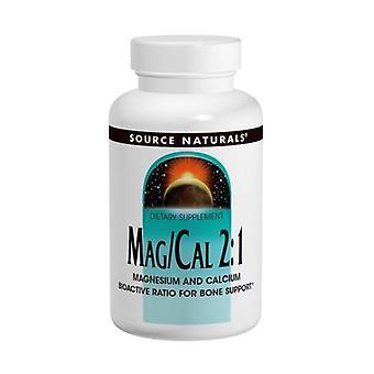 Kilde Naturals Magnesium og Calcium 2:1, 370 mg, 90 Caps